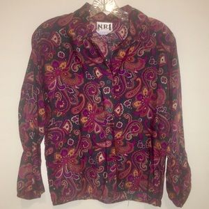 Vintage Ned Gould N.R 1 Paisley Blouse